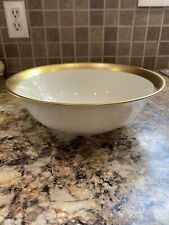 """Lenox Westchester Serving Bowl Round 9 3/8"""" Gold Banded Ivory Brand New"""