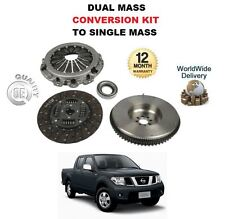 FOR NISSAN NAVARA D40 2.5 TD 2005-->ON CLUTCH + SOLID FLYWHEEL CONVERSION KIT