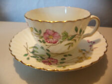 Vintage English Mintons China HP Dainty Sprays Gold Gilt Tea Cup & Saucer C&S!