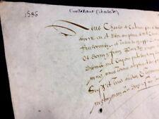 ANTIQUE VELLUM 1586