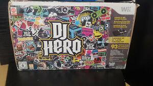 DJ Hero Nintendo Wii Turntable Kit With Game