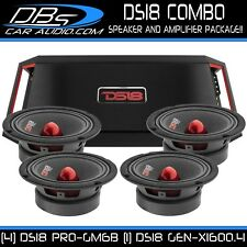 4 DS18 PRO-GM6B Pro Car Audio Midrange Speakers 1 GEN-X1600.4 Stereo Amplifier