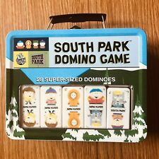 South Park Domino Game Tin Lunch Box Carry Box 28 Super-Sized Dominoes Complete