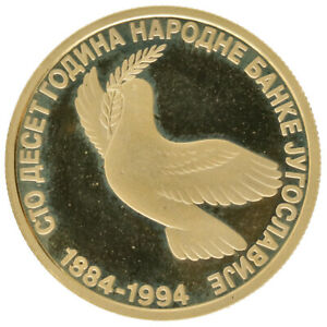Yugoslavia - Gold 150 Novih Dinara - 7.775 g - 'National Bank' - 1994 - Proof