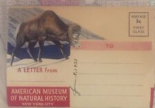Never Used POSTCARD American Museum of Natural History New York City 1953 3 Cent