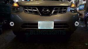 LED Angel Eye Fog Lamps Driving Light Kit Set for 2011 2012 2013 Nissan Rogue