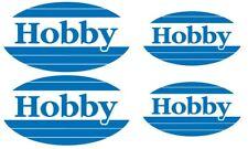 Wohnwagen Aufkleber königsblau-blau-orangen ! Sticker 4 Stück HOBBY LOGO