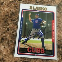 Chad Blasko Signed 2005 Topps Auto Chicago Cubs
