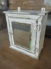 Vintage Painted Metal Wall Cabinet / Vintage Bathroom Medical Cabinet / Cupboard