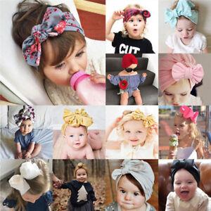 Baby Toddler Girls Kids Bunny Bow Knot Turban Headband Hair Band Headwrap Lot