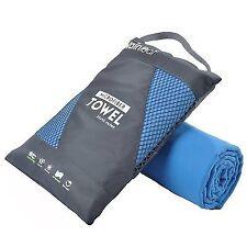 RainLeaf Antibacterial Microfiber Towel, Large 24 x 48 inches, Blue