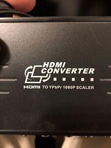 Component HDMI Converter To YPbPr 1080P Scaler
