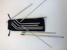 YIHONG Reusable Stainless Steel Straws (Set 6)