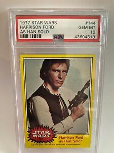 1977 Topps Star Wars Harrison Ford As Han Solo #144 PSA 10 GEM MINT