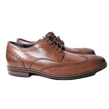 COLE HAAN Mens Size 9M Shoes Brown Leather Lace Up Wing Tip Man Made India
