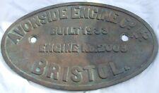 More details for avonside brass locomotive worksplate builders plate 2003 1933 replica ?