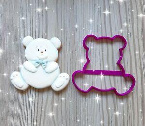 teddy bear cookie cutter, fondant cutter