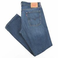 LEVI'S 514 Blue Denim Regular Straight Jeans Mens W36 L34