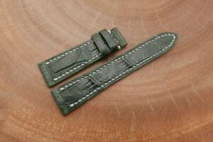 19mm/16mm Dark Green Genuine CROCODILE,ALLIGATOR Leather Watch Strap Band