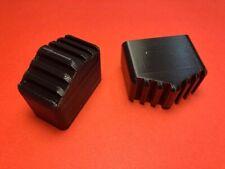 2 Stück Fußkappen Leiternfüße passend für HAILO Haushaltsleiter 40x20mm schwarz