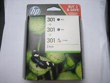 e5y87 EE ORIGINAL HP 301 2x NEGRO+1xcolor PARA DESKJET 3057 3059 Caja Orig.