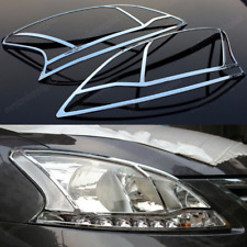 2ps Auto Accessories Headlight Front Lamp Cover Trim For Nissan Sentra 2013-2014