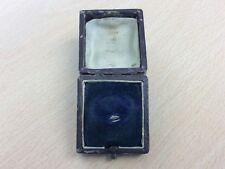 Antiguo anillo de la joyería de cuero caja de joyería 1890