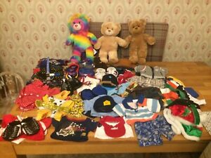 Large Boys Build A Bear bundle Clothes And 3 BAB Soft Toys