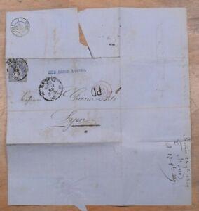 Mayfairstamps Switzerland 1869 Geneva to Lyon Folded Cover wwp72335