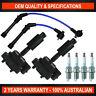 Ignition Coils, Leads & Spark Plug Pack for Ford Transit 2000-2006 VH VJ 2.3L