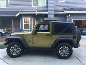 10-18 Jeep Wrangler JK 2 Door Replacement Tinted Windows & Soft Top Special Buy!