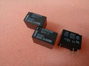 5 x G5V-1-5VDC OMRON RELAYS 5VDC; 0.5A/125VAC; 1A/24VDC 6 PIN UKINSTOCK