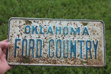 Vintage 1940 50 s Ford country accessories auto license plate
