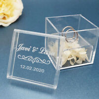 Custom Wedding Ring Box Personalized Wedding Ring Box Custom Acrylic Ring Box