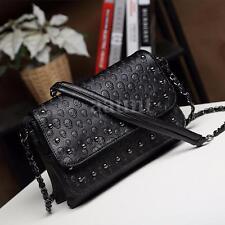 Fashion Womens Black Skull Handbag Messenger Crossbody Shoulder Bags Clutch Tote
