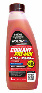 Nulon Long Life Red Top-Up Coolant 1L RLLTU1 fits Holden Rodeo RA 2.4 i (TFR3...