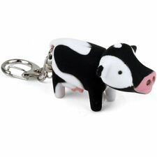 Kikkerland COW Key Chain with Super Bright White LED light & Mooing Sound!