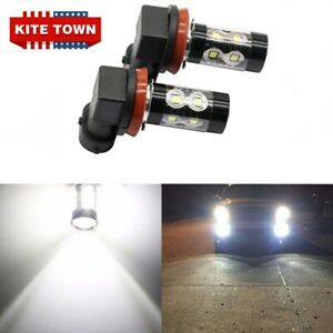 2x NEW Fog Lights Bulbs For Nissan Rogue 2014-2020 6000K White 100W LED