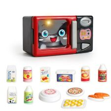 Kids Household Appliances Toy Microwave Oven Set Pretend Play Cooking Utensils