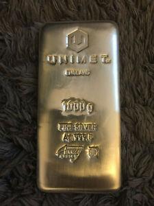 1 kg unimet silver bullion bar