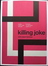 "Killing Joke,Violent Femmes,H20,2 Sided Punk /Rock Mini Poster Art 14x10"", R:189"