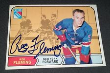 Autographed Reg Fleming (D.2009) 1968-69 O-Pee-Chee Card #167 Montreal Canadiens