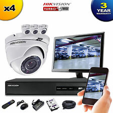 HIKVISION 4Ch Dvr & 4x HD TVI 1080p Camera's High Definition CCTV Camera System