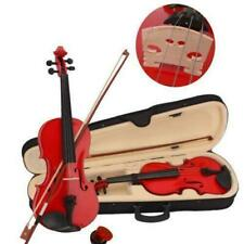 More details for new glarry 4/4 size acoustic violin fiddle full set with case bow rosin red