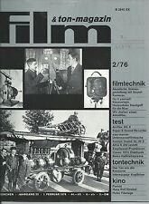 Film & Ton-Magazin 2/76 Hans Rolf Strobel Hofer Filmtage Ton Konserve Kopfhörer