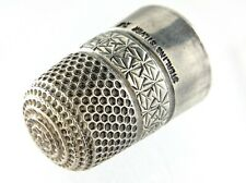 Vintage Made In England Sterling Silver Thimble 1 inch 6 grams L817