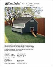 5'x 6' Chicken Coop Plans, How to build a chicken coop, design #90506MG