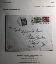 1940 Amsterdam Netherlands Postage Due Censored Cover To Lisbon Portugal