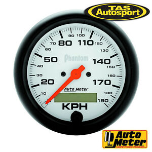"AUTOMETER SPEEDO ELECTRIC PROGRAMMABLE METRIC 3.3/8"" 190 KMH - AU5887-M"