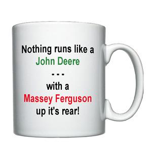 New Holland, Massey Ferguson, John Deere, Tractor, Farmer Joke Personalised Mug
